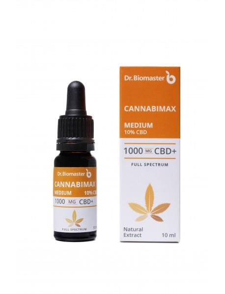 Канабимакс Медиум 10% CBD (1000 mg CBD), 10 ml